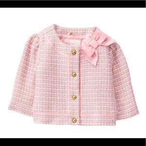 NWOT Janie & Jack Pastel Pink Bouclé Suit Set